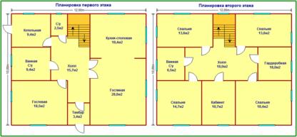 Проект дома С-47 10х12 (240м.кв.)