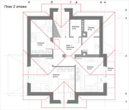 """Проект дома ГБН- 41 """"Эдна"""" – 155 м2"""