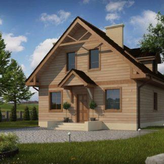 Проект дома № 109 — 125 м2 (8,18 х 9,4)