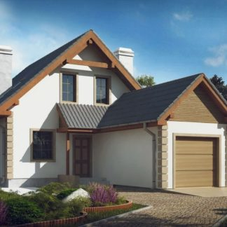 Проект дома № 108 — 127 м2 (8,36 х 14,85)
