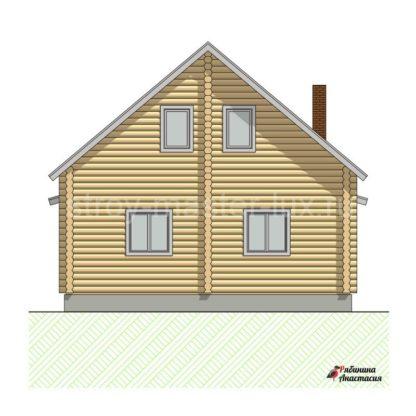 Проект дома с террасой №8 — 129 м2 (8,6 х 11,1)