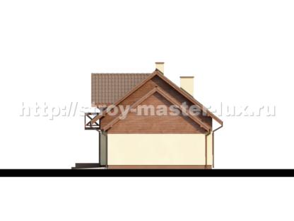 Проект дома с гаражом №Z33 — 136 м2 (13,03 х 8,35)