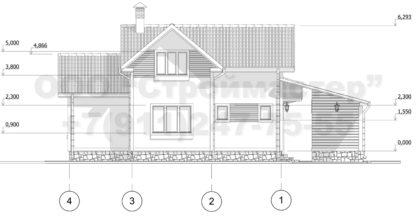 Проект дома № АД-021 — 143 м2 (10,65 х 8)