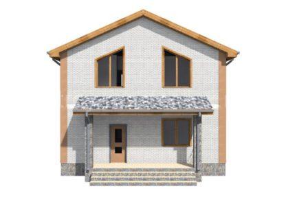 Проект дома № 32 — 162 м2 (8,5 х 8,5)