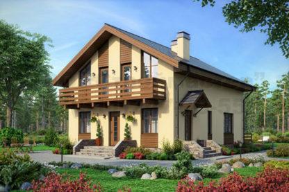 Проект дома № С-15 — 164 м2 (9 х 12,55)