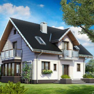 Проект дома №370 — 166 м2 (9,66 х 11,8)