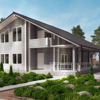 Проект дома № С6 — 173 м2 (11,4 х 12,9)
