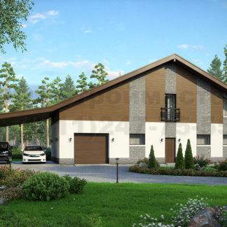 Проект дома Б-10 — 188 м2 (22,8 х 6,86)