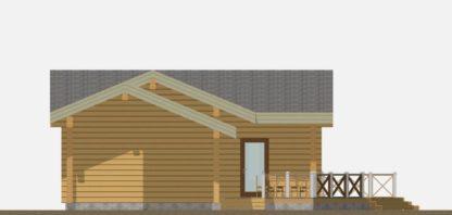 Проект бани № Б174 — 141 м2 (15,5 х 11,8)