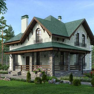 Проект дома С-6 — 189 м2 (11,24 х 11,24)