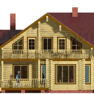 Проект дома АД-023 — 193 м2 (9,3 х 12,55)