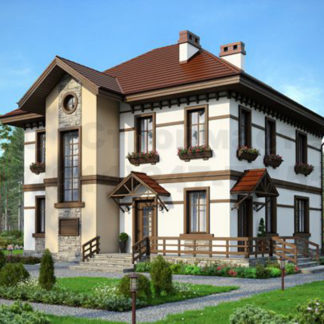 Проект дома № Б-2 — 199 м2 (12,3 х 12,56)