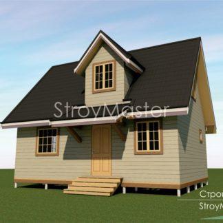 Проект дома № 300 — 68 м2 (6 х 8)