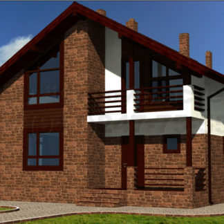 Проект дома № АД-034 — 220 м2 (10,2 х 12,15)