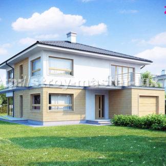 Проект дома № ZX-7 — 225 м2 (11,39 х 13,89)