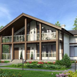 Проект дома № С-11 — 266 м2 (13,24 х 14,74)