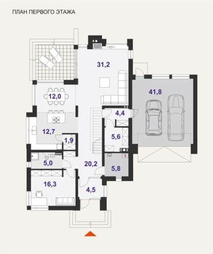 Проект дома №133 — 268 м2 (17 х 17)