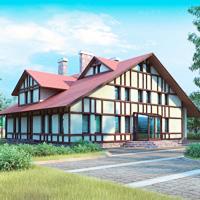 Проект дома №М-3103 - 271м2 (17,48 х 17,56)