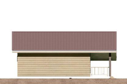 Проект одноэтажного дома № 1235 — 70 м2 (8 х 8,9)