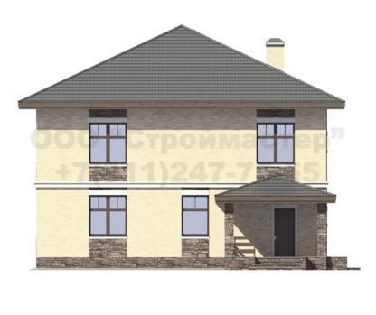 Проект дома № Б-14 — 300 м2 (12,8 х 16)