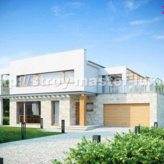 Проект дома № ZX-5 — 333 м2 (16,8 х 13,1)
