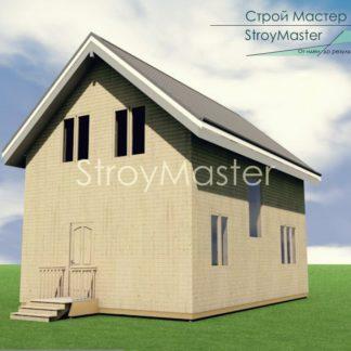 Проект двухэтажного дома № 500 — 80 м2 (6 х 9,2)