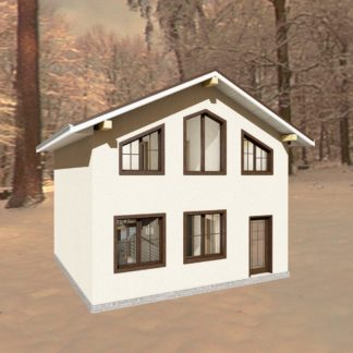 Проект дома № 1483 — 77 м2 (7 х 7)