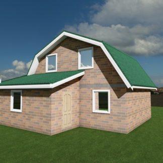 Проект дома № 864 — 84 м2 (10,13 х 8,12)