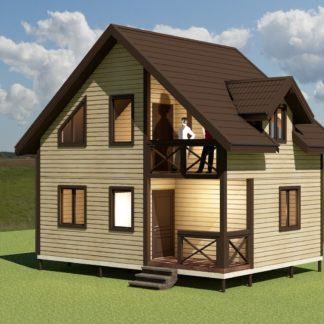 Проект дома № 1718 — 80 м2 (6 х 8)
