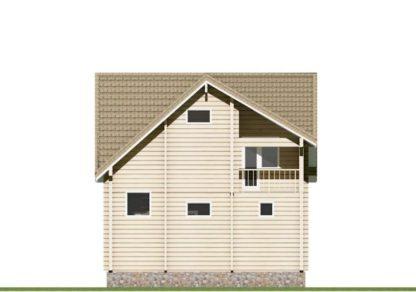 Проект дома в два этажа № 900 — 88 м2 (7,3 х 6,8)