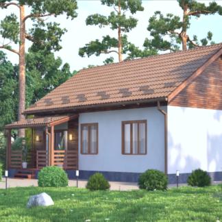 Проект одноэтажного дома №3 - 97 м2 (9х12)