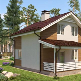 Проект двухэтажного дома №7 - 83 м2 (7х7)