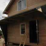Дом из профилированного бруса фото House of shaped timber
