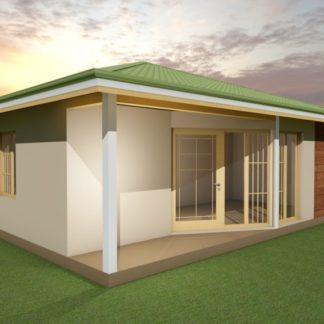 Проект одноэтажного дома № 491 — 92 м2 (8,5 х 11,4)
