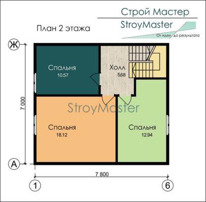 Проект дома № 388 — 94 м2 (7,8 х 7)