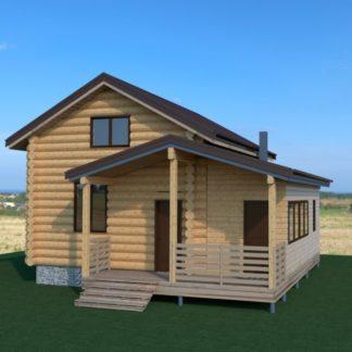 Проект дома с крыльцом № 941 — 100 м2 (7,9 х 9,5)