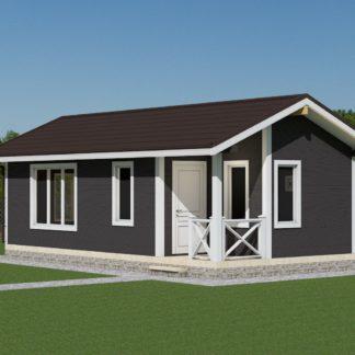 Проект дома № 2392 — 36 м2 (9 х 4)