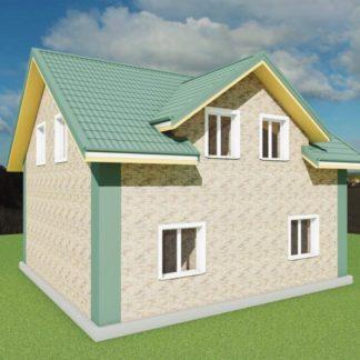 Проект дома № 722 — 101 м2 (8,5 х 8)