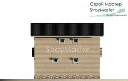 Проект дома с террасой № 796 — 102 м2 (9 х 8)