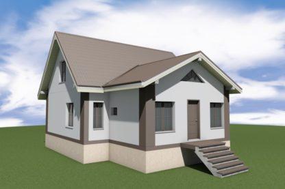 Проект дома № 1009 — 107 м2 (9 х 10,5)