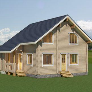 Проект дома № 296 — 133 м2 (9,58 х 9)