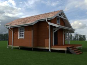 Проект дома № Пс — 77 м2 (9 х 5)