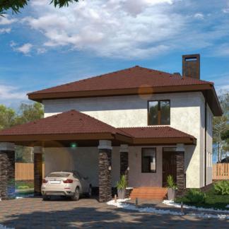 Проект дома c гаражом № 2394 - 190 м2 (10х11)