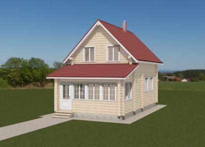 Проект дома № 2488 — 82 м2 (6 х 7)