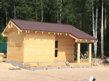 Проект бани № 516 — 34 м2 (6 х 6,6)