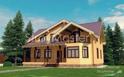 Проект дома №906 — 158 м2 (9,2 х 11,7)