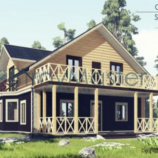 Проект дома № 177 — 161 м2 (10,48 х 12,5)