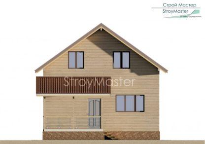 Проект дома № 358 — 163 м2 (7,85 х 12,35)