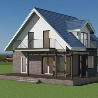 Проект дома № 496 — 176 м2 (9,23 х 8,77)
