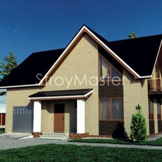 Проект дома № 67 — 166 м2 (11,36 х 8,8)